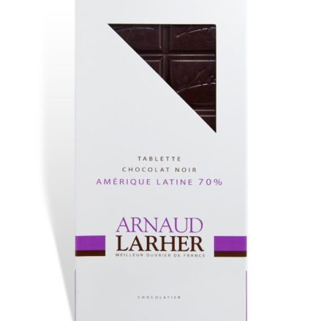 Tablette chocolat noir grand cru Amérique latine 70 %