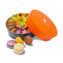 Coffret rond 20 macarons